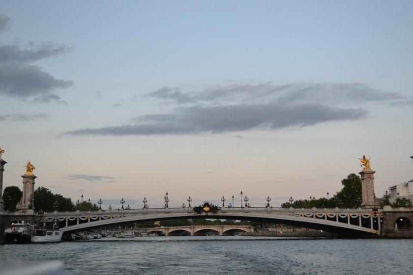 The famous bridge, Pont Alexandre III, from La Seine