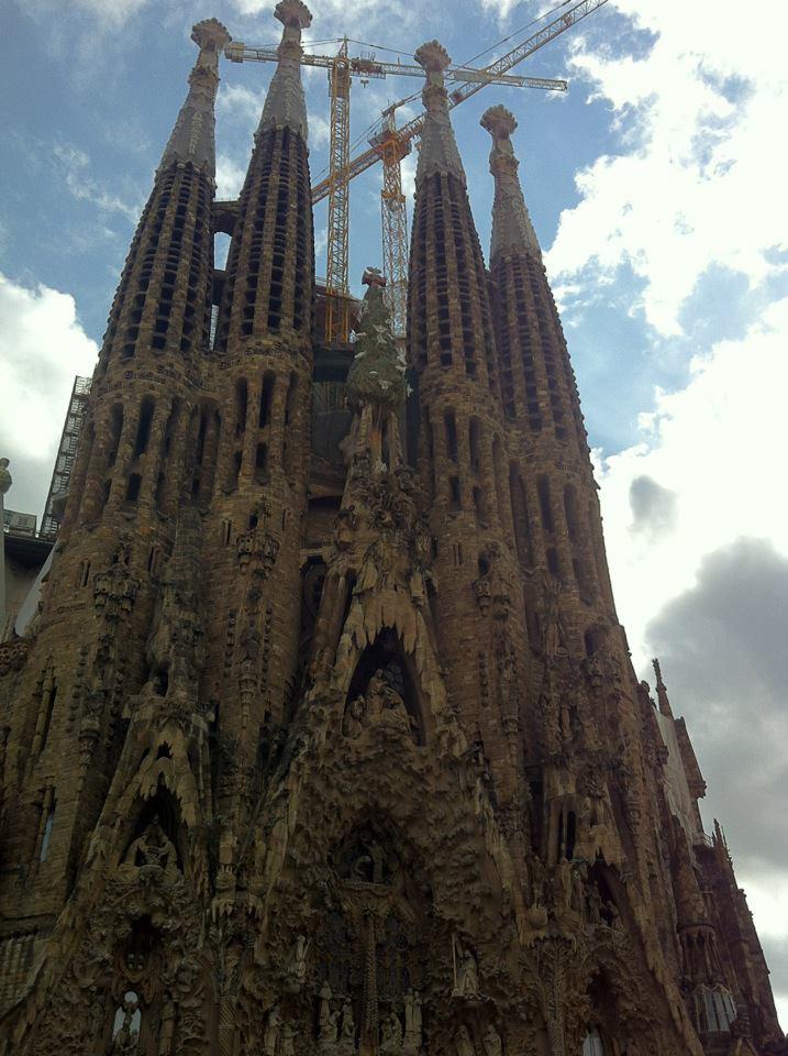 The temple of Sagrada Familia Basilica